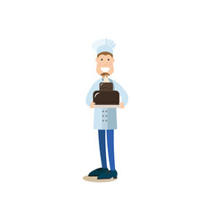 cook people in flat style vector image