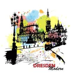 European sity sketch Dresden Germany vector image vector image