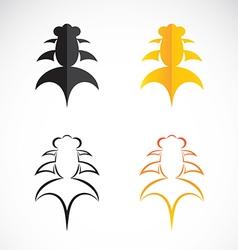 Goldfish and black goldfish on white background vector image