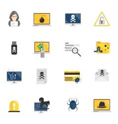 Hacker Icons Flat vector image vector image