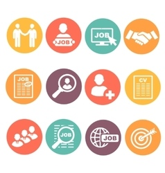 job hunting search human resources icons vector image