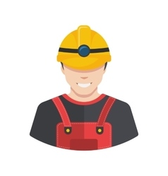 Smiling construction worker builder icon avatar vector image vector image