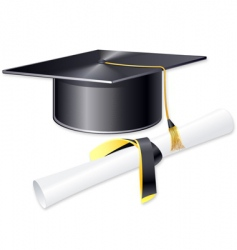 student hat vector image vector image