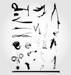 grunge ink set vector image