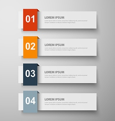 paper infographic23 vector image vector image