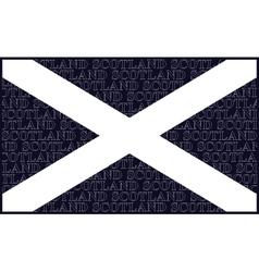 Scottish Saltire National Flag vector image vector image