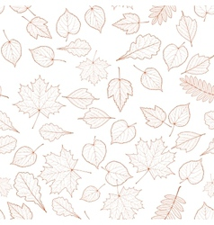 Seamless autumn leaves pattern template vector image vector image