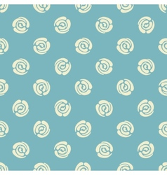 Seamless pattern with polka dots abstract roses vector image