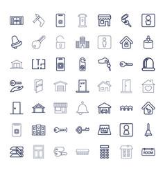 49 door icons vector