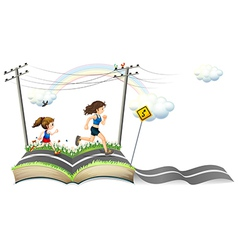 A book with a story narrow road vector
