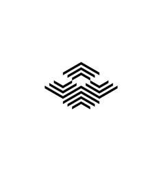 abstract bird logo design concept vector image