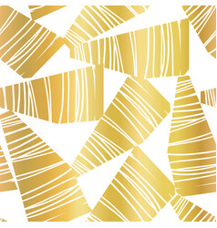 Abstract golden collage seamless pattern vector