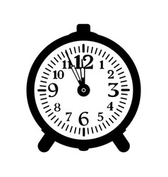 alarm clock isolated old-fashioned vector image