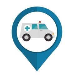 Ambulance emergency vehicle icon vector