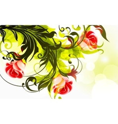 background roses vector image