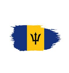 barbados flag vector image
