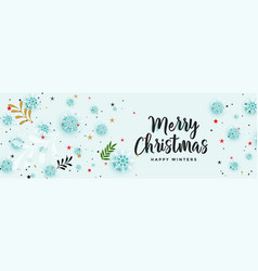 Beautiful christmas banner with decorative vector