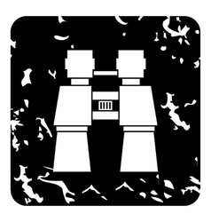 Binoculars icon grunge style vector