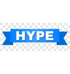 Blue ribbon with hype title vector