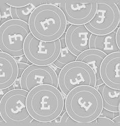 British pound silver coins seamless pattern splen vector