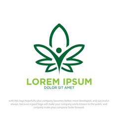 Cannabis health logo vector