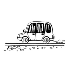 car child drawing sketch vector image