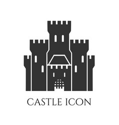 Castle symbol icon isolated on white background vector