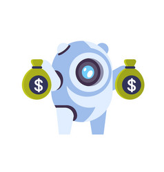 chat bot robot money growth wealth concept vector image
