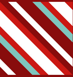 christmas diagonal striped seamless pattern vector image
