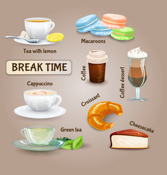 Coffee Break Set vector