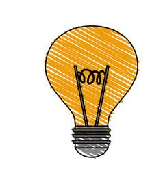 Color blurred stripe image modern light bulb on vector