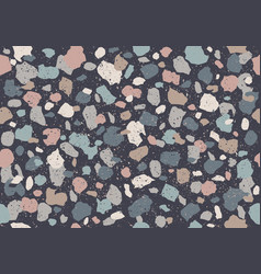 colorful pattern with terrazzo texture vector image