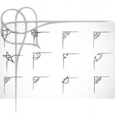 corner ornaments vector image