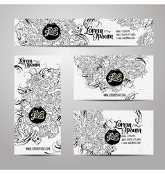 Corporate Identity templates doodles love theme vector