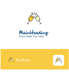 creative cheers logo design flat color logo place vector image