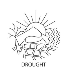 drought natural disaster vector image