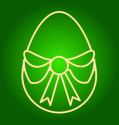 Egg with a bow icon vector