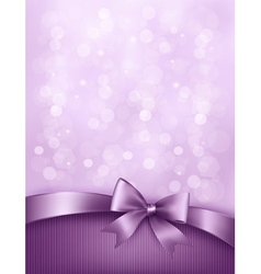 Elegant holiday background with gift bow and vector
