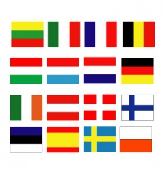 European continental flag vector image