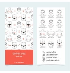 Flyer and brochure for plastic surgery clinic Set vector image