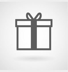 Gift box icon on white background vector