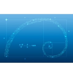 golden ratio vector image
