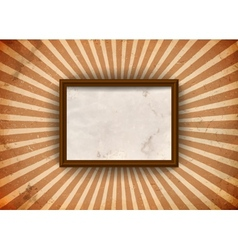 Grungy frame with rays vector