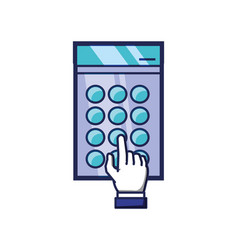 hand indexing access code vector image