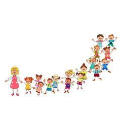 happy children from kindergarten vector image