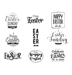 Happy Easter typography design set Isolated vector