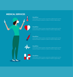 hospital workers concept medical vector image