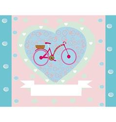 I Love My Bike retro card vector image