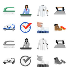 Isolated object of laundry and clean sign vector