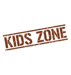 Kids zone stamp vector